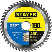 STAYER 190 x 30/20 мм, 48Т, диск пильный по дереву EXPERT 3682-190-30-48_z01 Master