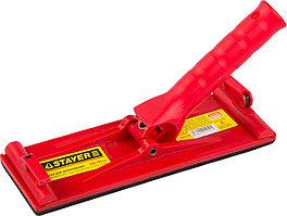 STAYER 230 x 80 мм, корпус полипропилен, терка для шлифования с держателем под телескопическую ручку 3570-08