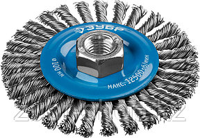 ЗУБР Ø 100 мм, проволока 0.5 мм, щетка дисковая для УШМ 35192-100_z02 Профессионал