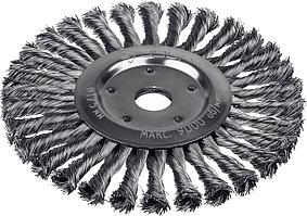 ЗУБР Ø 175 мм, проволока 0.5 мм, щетка дисковая для УШМ 35190-175_z02 Профессионал