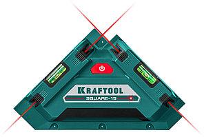 KRAFTOOL лазерный угольник для кафеля SQUARE-15 34705