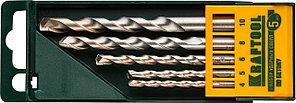 KRAFTOOL в боксе, 5 шт., цилиндрический хвостовик, набор ударных сверл по бетону 29165-H5