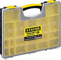 """STAYER 16.5"""", 19 отделений, пластиковый, органайзер ROCKET-19 2-38032_z01"""