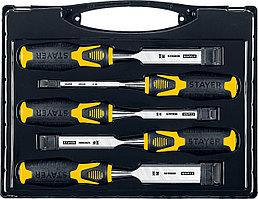 STAYER 5 шт, 6/12/16/20/25 мм, набор стамесок 18205-H5_z01 Professional