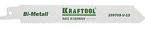 KRAFTOOL 130 мм, шаг 1.8-2.5 мм, полотно по дереву и металлу Bi-Met 159705-U-13 Industrie