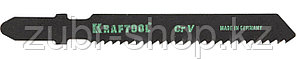 KRAFTOOL по дереву, фанере, ДСП, чистый рез, EU-хвостовик, шаг 2 мм, 55 мм, 2 шт., полотна для лобзика Cr-V