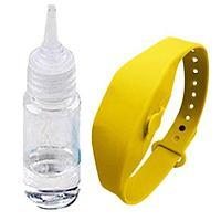 Антисептический браслет для рук с дозатором - жёлтый