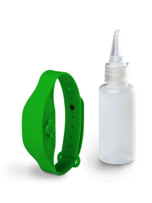 Антисептический браслет для рук с дозатором - зелёный