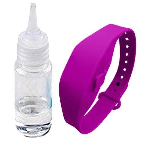 Антисептический браслет для рук с дозатором - фиолетовый