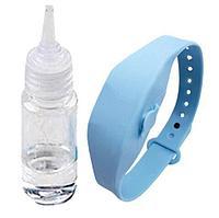 Антисептический браслет для рук с дозатором - голубой, фото 2
