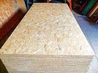 OSB лист, толщина от 9мм и выше, размерами 2,5х1,25м. Кроношпан