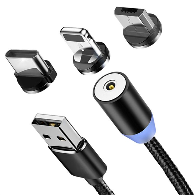 Магнитный кабель для зарядки смартфона с 3-мя разъемами 3 в 1.