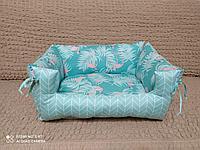 Лежанка для собачек двухсторонние фламинго, фото 1