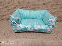 Лежанка для кошек двухсторонние фламинго, фото 1