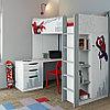 Кровать-чердак Polini Simple Marvel 4355 Человек-паук с письменным столом и шкафом