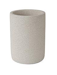 Стакан д/зубн. щеток Аквалиния Stone CM0065BA-TB цемент