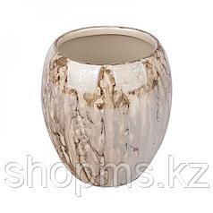 Стакан д/зубн. щеток керамика Оникс коричневый CE1033B-TB