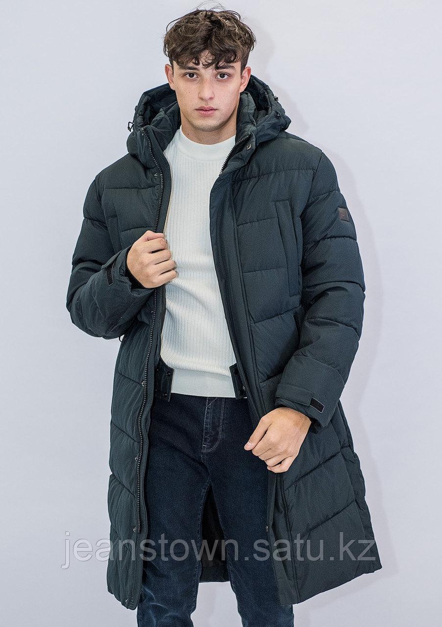 Зимняя мужская длинная куртка Kings Wind  зеленая