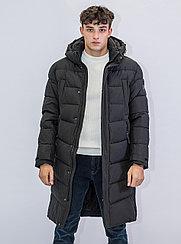 Зимняя мужская длинная куртка Kings Wind  черная