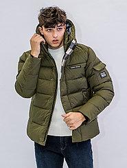 Зимняя мужская куртка Kings Wind  зеленая