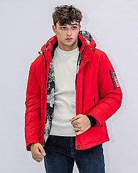 Зимняя мужская куртка Kings Wind  красная
