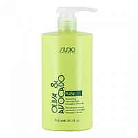 Маска питательная для волос 750мл с маслами авокадо и оливы Studio Professional