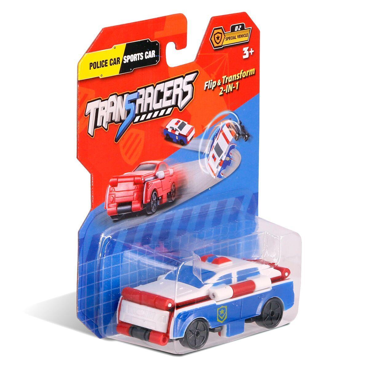 Flip Cars: Машинка-трансформер 2 в 1 Полицейская Машина и Спорткар
