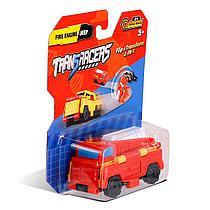 Flip Cars: Машинка-трансформер 2 в 1 Пожарная Машина и Внедорожник