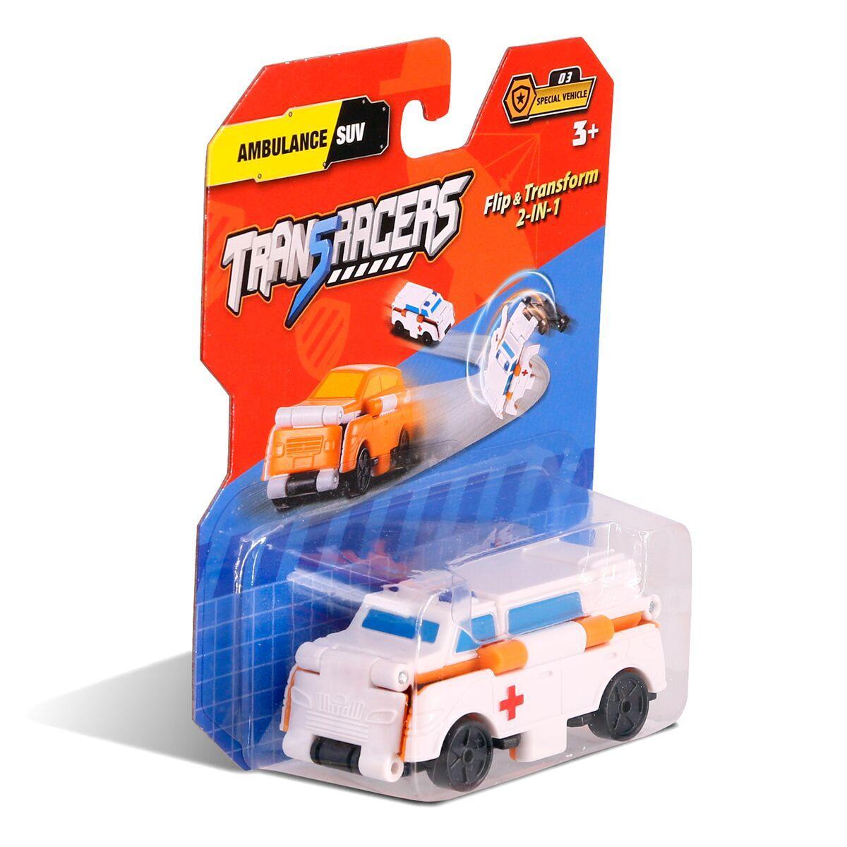 Flip Cars: Машинка-трансформер 2 в 1 Скорая Помощь и Внедорожник