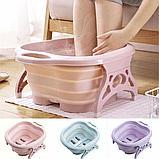 Складная силиконовая ванночка для ног Foldable Foot Bucket., фото 2
