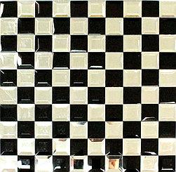 Премиум мозаика чёрно-белое зеркало