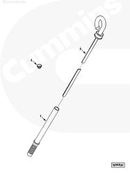 Щуп масломерный Cummins C Series 3937417 3945605