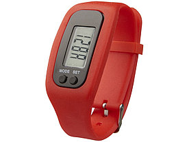 Часы с шагомером Get-Fit, красный
