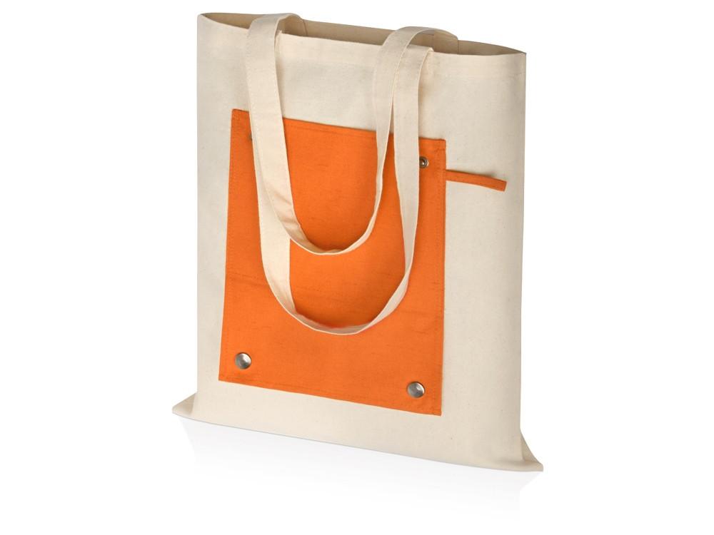 Складная хлопковая сумка для шопинга Gross с карманом, оранжевый