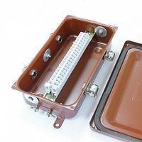 Коробка с зажимами наборными КЗНС-16 УХЛ1,5 IP65  латунный ввод ЗЭТАРУС