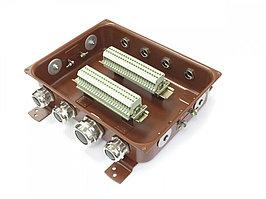 Коробка с зажимами наборными КЗНС-48 УХЛ 1,5 IP65 латунный ввод  ЗЭТАРУС