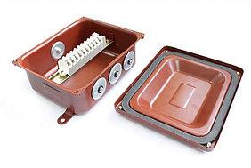 Коробка монтажная КМ 65-10 УХЛ1,5  IP65   металлические заглушки ЗЭТАРУС