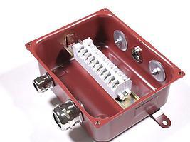 Коробка с зажимами наборными КЗНС-08 УХЛ1,5  IP65  латунный ввод ЗЭТАРУС