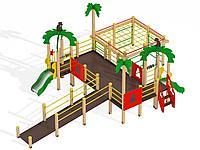 Детский игровой комплекс для детей с ограниченными возможностями Джунгли МАФ 2203