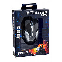 """Мышь Perfeo оптическая """"SHOOTER"""" 6кн. USB, DPI 1200-3200 GAME DESIGN чёрная, с подсеткой 6 цв., (PF-1709-GM), фото 1"""