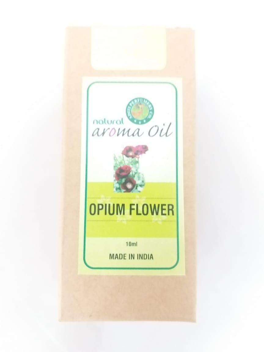 Натуральное эфирное масло с ароматом  opium flower (мак), 10 мл, Индия