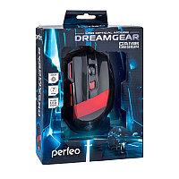"""Мышь Perfeo оптическая """"DREAMGEAR"""" 7кн. USB, DPI 1200-4800 GAME DESIGN чёрно-красная, с подсеткой 6 цв.,, фото 1"""