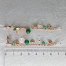 Серьги SOKOLOV серебро с позолотой, агат зеленый, агат,  83020157, фото 10