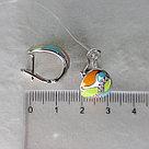 Серьги DIAMANT ( SOKOLOV ) серебро с родием, фианит , эмаль 94-120-01128-1, фото 6