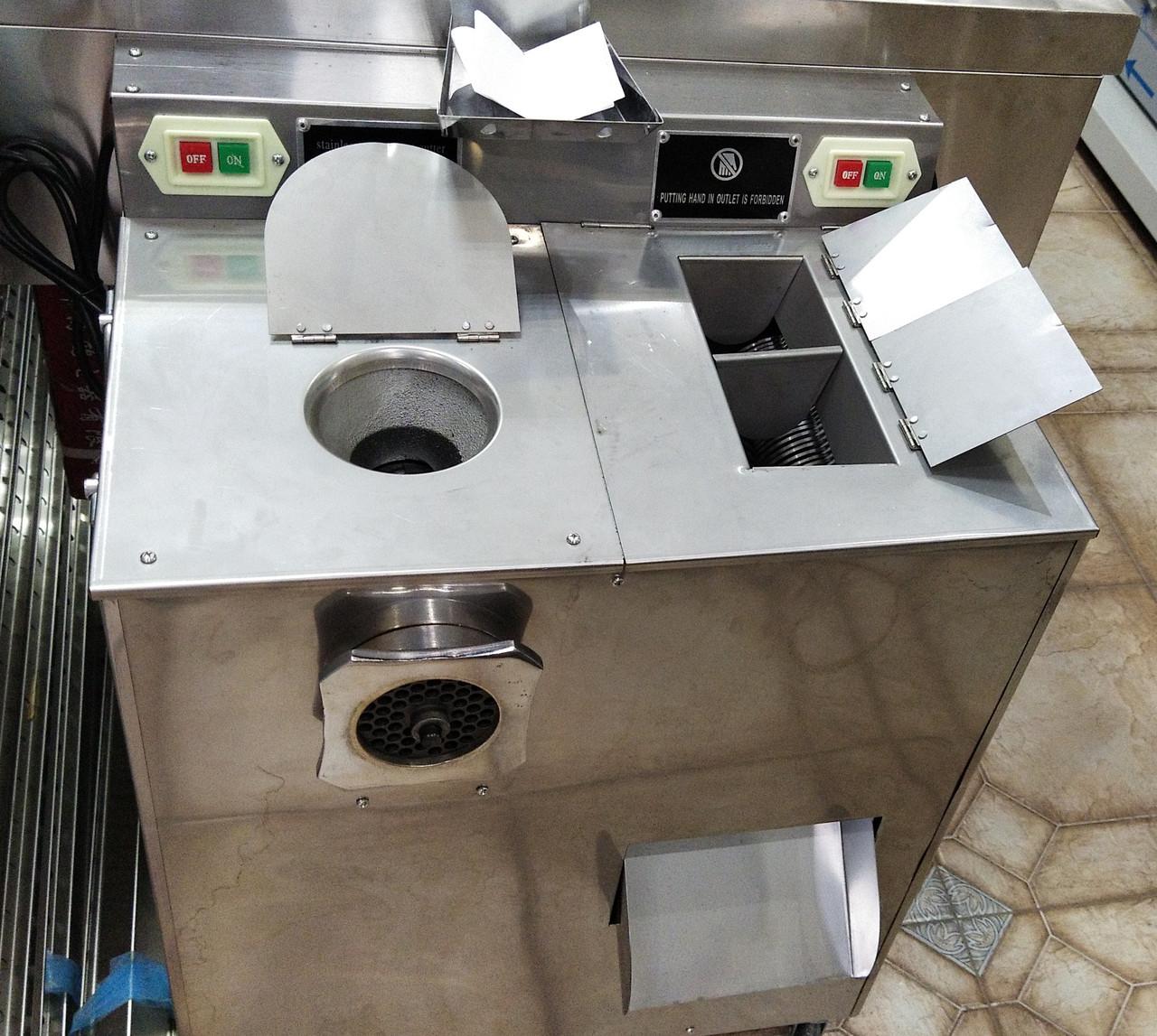 Мясорубка промышленная с измельчителем