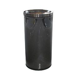 Ведро мусорное с плавающей крышкой 50 л. хром Темно-серый