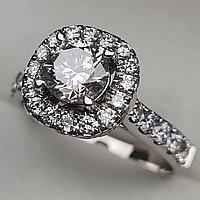 Золотое  кольцо с бриллиантом 2,21Сt SI2-VS2/L-F, фото 1