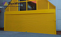 Рольставни ворота, желтый