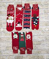 Носки тонкие с новогодней тематикой для взрослых и детей