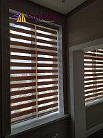 Рулонные шторы день-ночь древесный